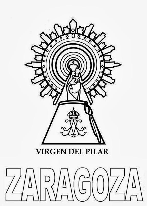 Aprender es divertido: Virgen del Pilar para colorear