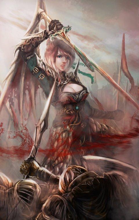 Thang Quang Tran (Reign Lynelle) shizen1102 deviantart ilustrações fantasia mulheres anime