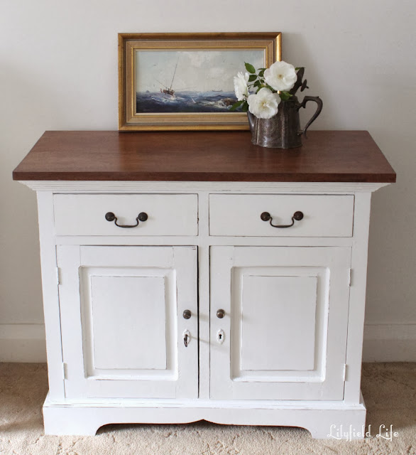 French White painted hall cupboard by Lilyfield Life for sale