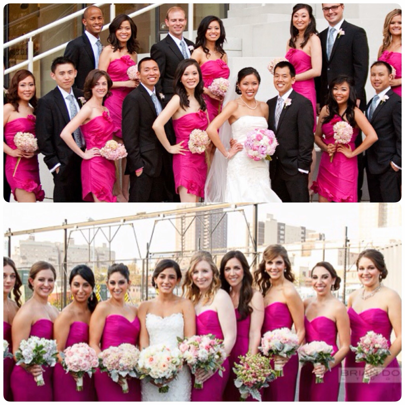 fuchsia bridesmaids dresses