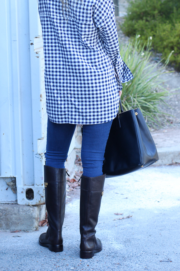 tunic top with skinny jeans