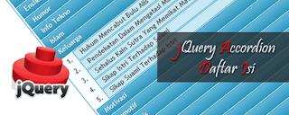 Cara Membuat Daftar Isi Blog Dengan Efek JQuery