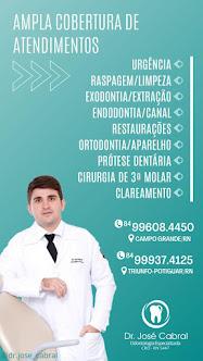 Dr. José Cabral tem ampla cobertura de atendimentos em Campo Grande e Triunfo Potiguar