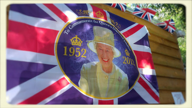 Cream Tea Queen jubilee flag