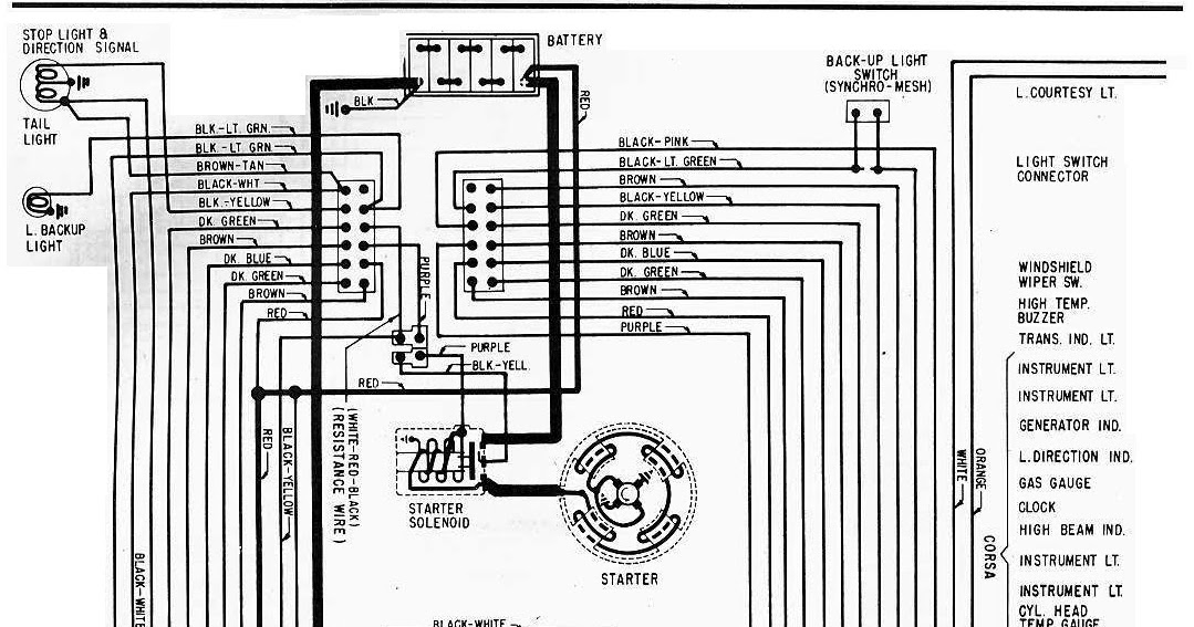 1965 chevrolet corvair electrical wiring diagram