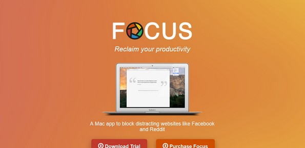 Focus productivity software