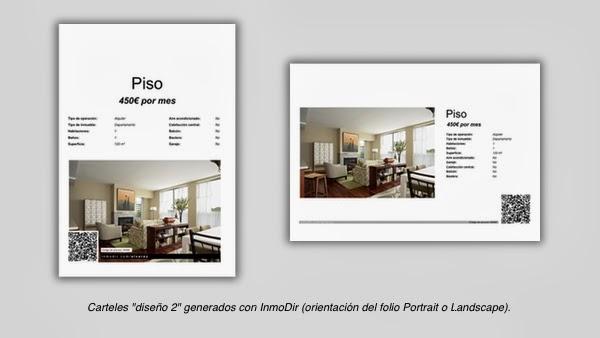 Carteles para escaparate de inmobiliarias creado con InmoDir