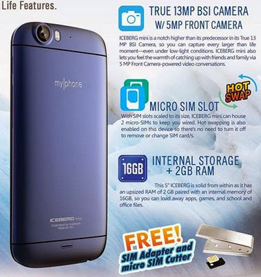 MyPhone Iceberg Mini, MyPhone Android Phone