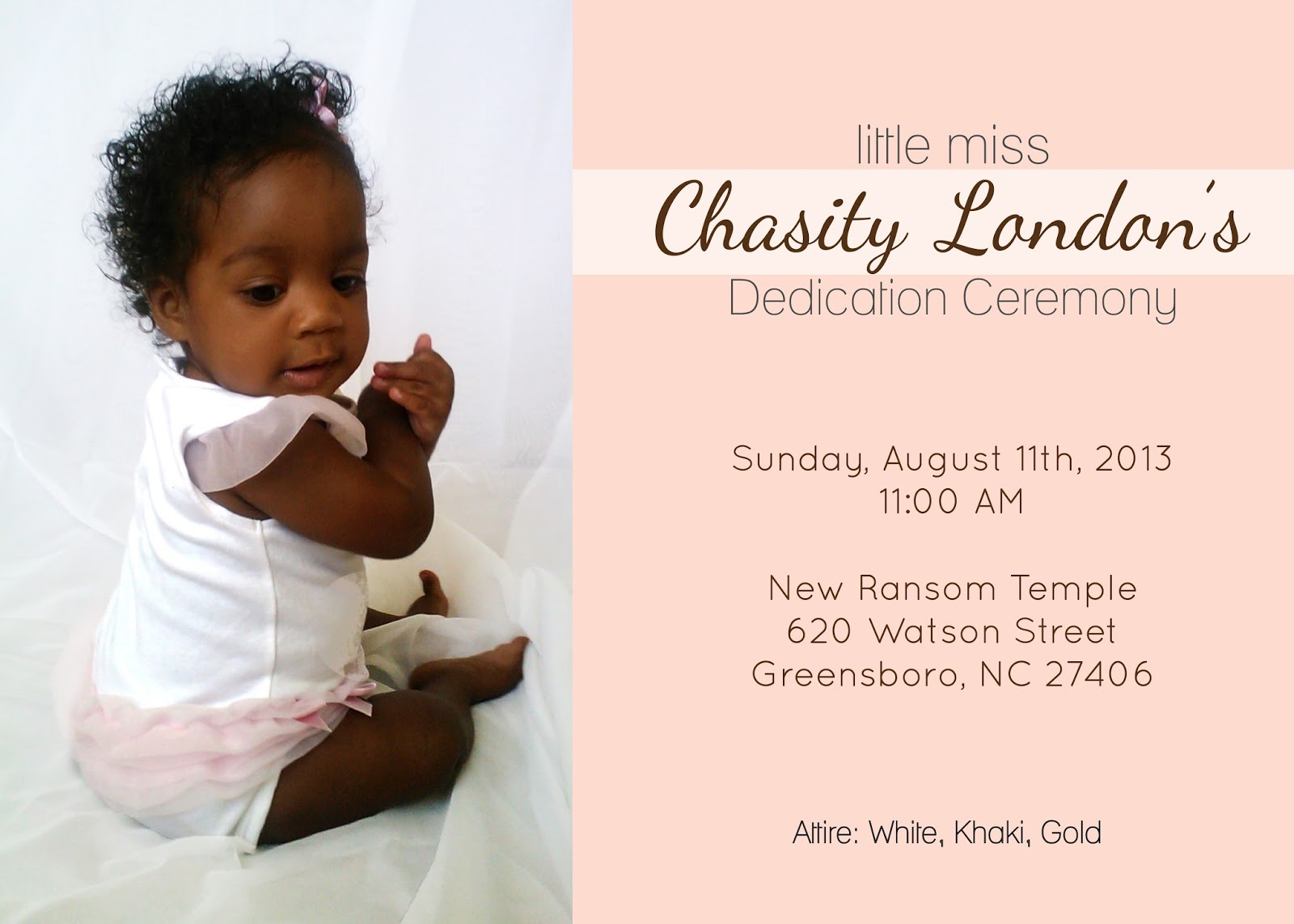 Baby Dedication Invitation Great Pink Stripe Baptism Baby – Baby Dedication Invitation Card