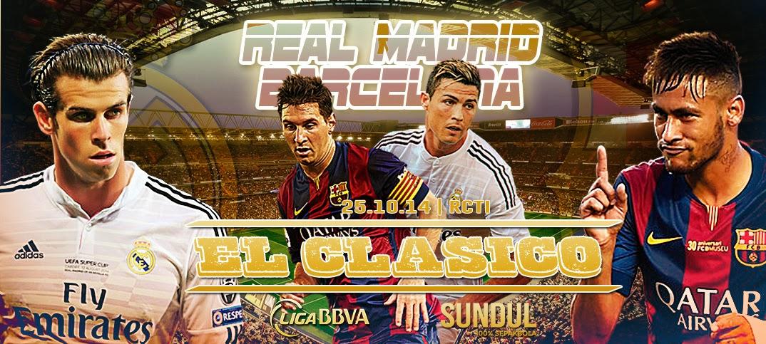 "Hasil Skor Akhir: Real Madrid vs Barcelona ""El Clasico"" La Liga Spanyol (Sabtu, 25 Oktober 2014)"