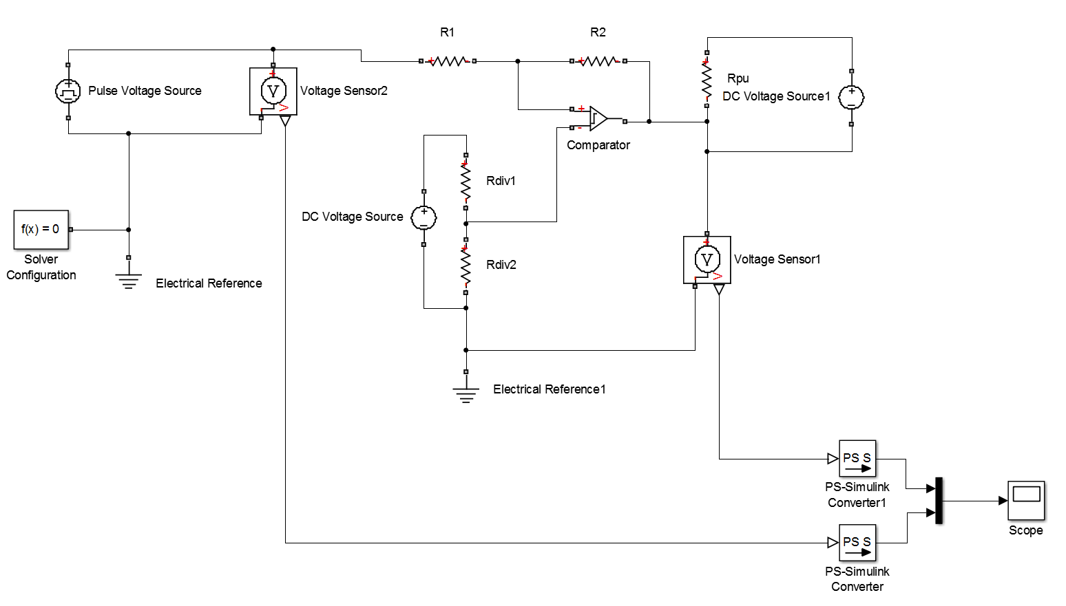 Simulink Compare Data Comparator Circuits With Hysteresis Design Tool