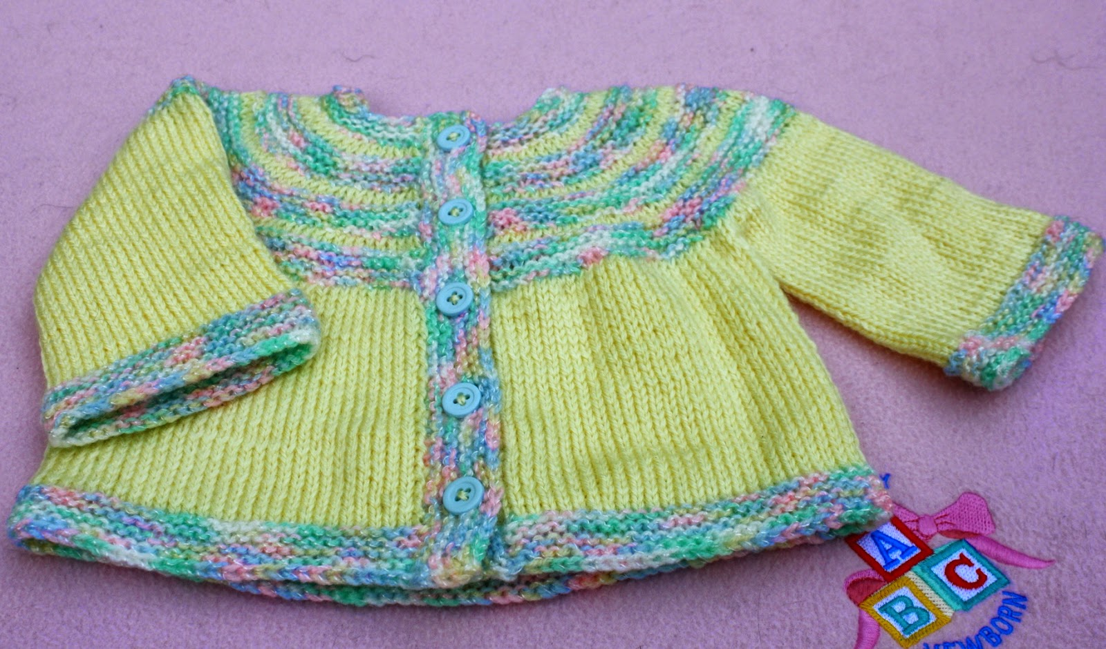 All knitted lace new pattern release two color baby cardigan happy knitting natalia ps here is another color combination bankloansurffo Choice Image