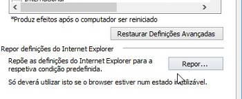 Internet Explorer parou de funcionar