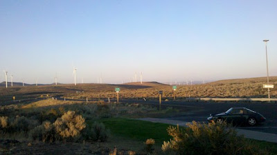 Wild Horse wind turbines from the rest stop along I-90