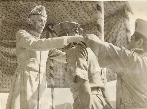 G D Langlands with Muhammad Ali Jinnah