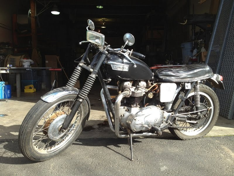 Show Amp Go Cycle Shop 1963 Tr6ss Desert Sled Find