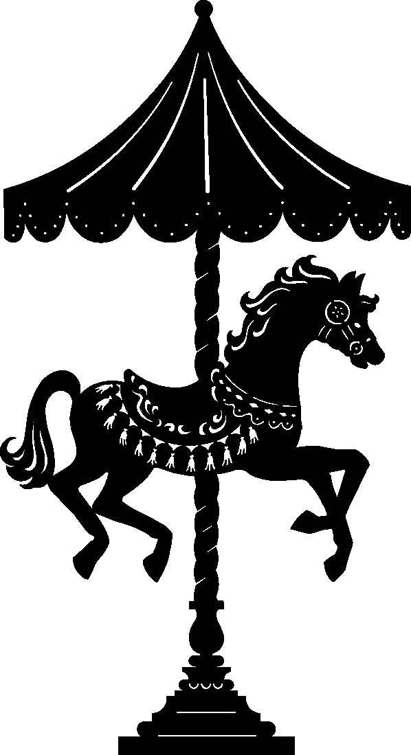 Carousel horse silhouette clip art - photo#10