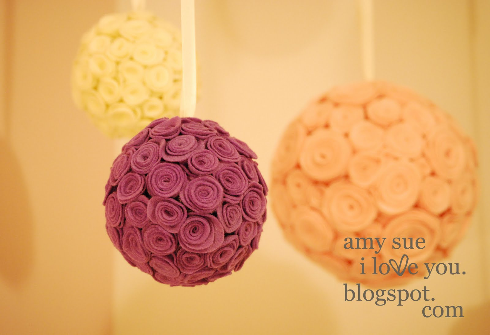 Felt Flower Balls Or Bouquets