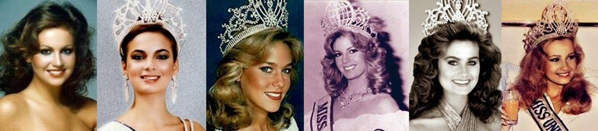 Misses Universo: 78, 79, 80, 81, 82 e 83