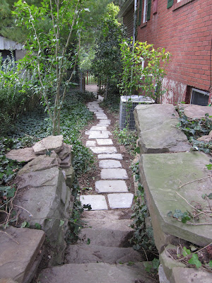 Stone Pathway Creation After