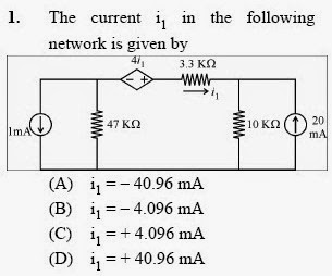 2013 December UGC NET in Electronic Science, Paper II, Question 1