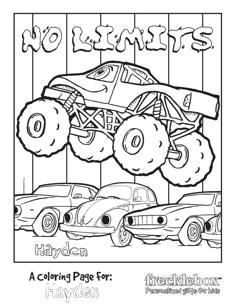Monster Truck Coloring Page Free