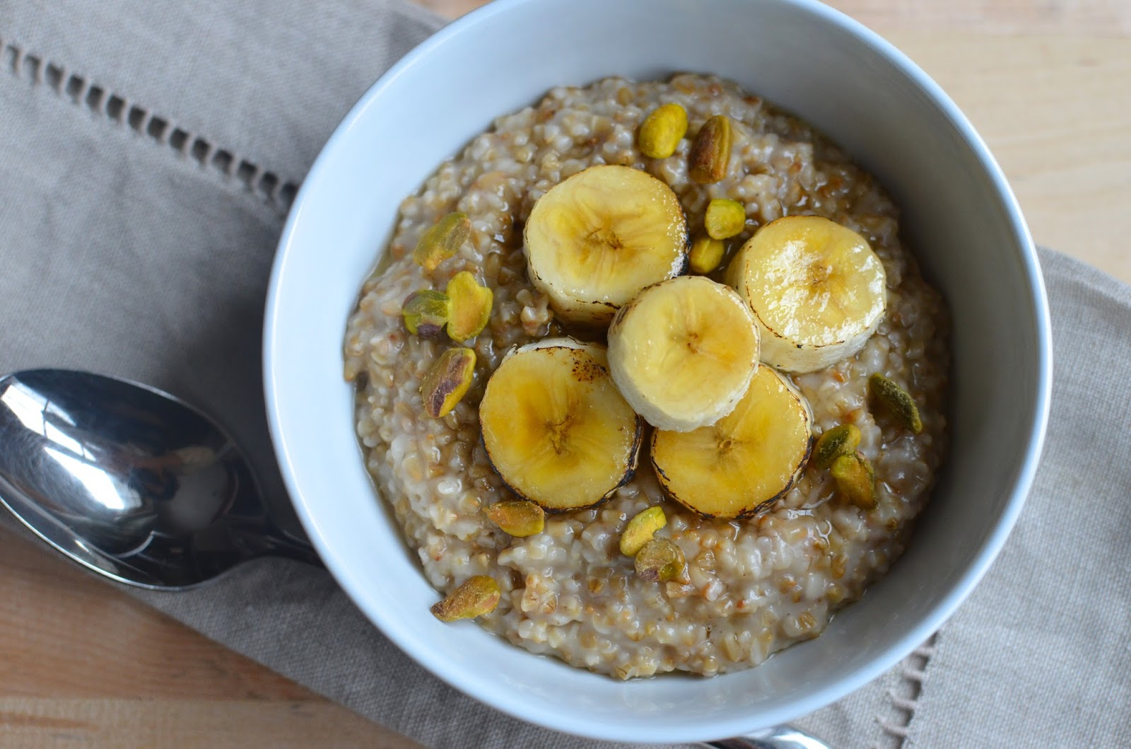 This toasted oatmeal makes for a firm and chewy texture