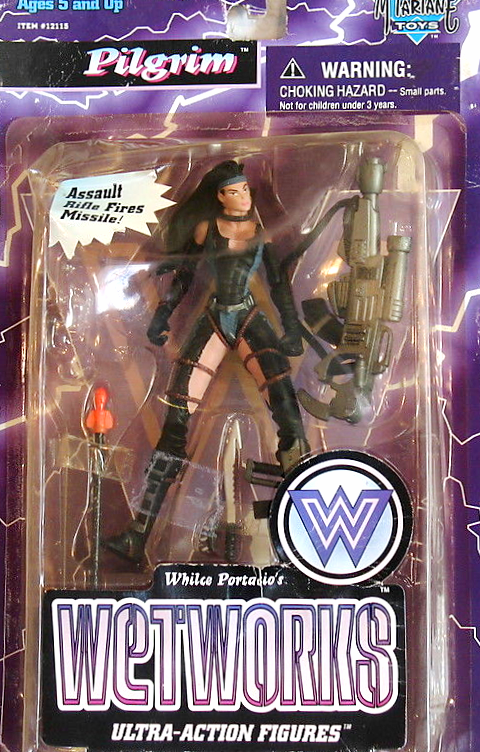McFarlane Toys Wetworks PILGRIM Flesh Edition With Assault Rifle Fires Missile