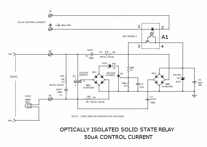 Solid State Relay Requires Only 50uA Drive Current Electronic - Solid State Relay Low Current