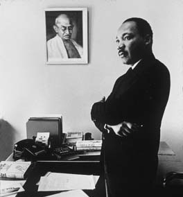 MLK and Gandhi photo