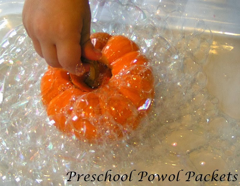 Bubble Science With Pumpkins Preschool Powol Packets