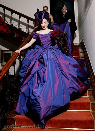 Gothic Purple Wedding Dresses Pictures