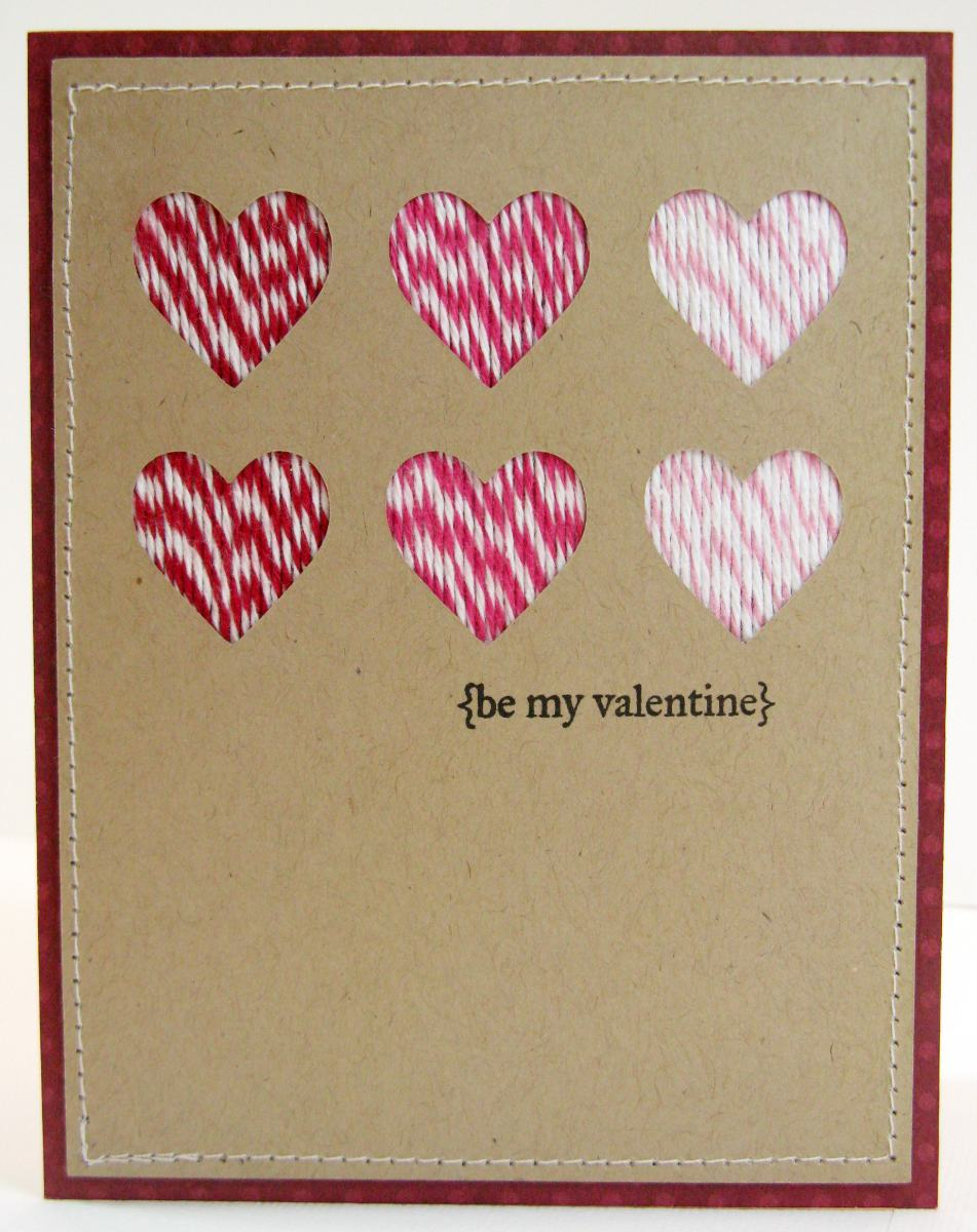 Snippets By Mendi Valentine Card Ideas With Bakers Twine Ribbon – Bulk Valentine Cards
