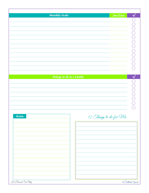free printable, goal setting, planning,