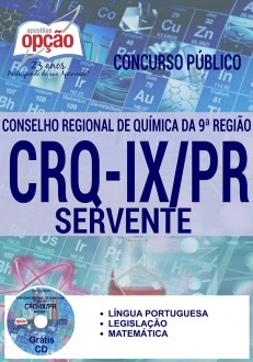 Apostila Concurso CRQ-IX PR 2016 Servente