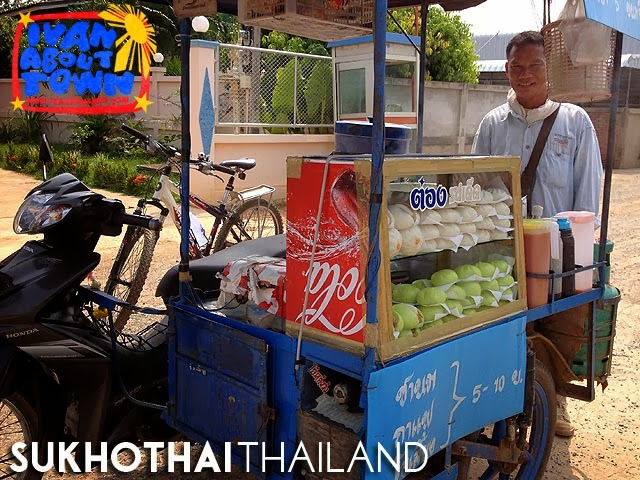 Salapao vendor in Sukhothai, Thailand