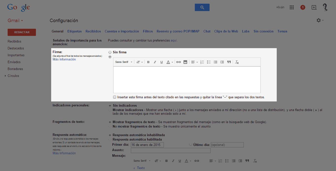 Crea tu firma de correo personalizada 1