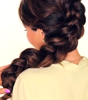 Inside-Out Braided Hairstyle for Long Hair