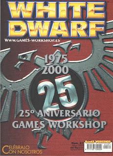 Portada del número 25 de la revista White Dwarf