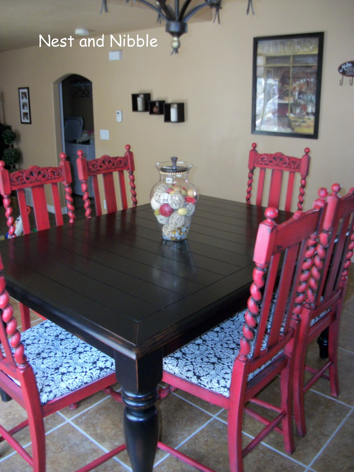 Nest And Nibble: New Dining Room Chairs. Full resolution‎  img, nominally Width 1200 Height 1600 pixels, img with #2569A6.