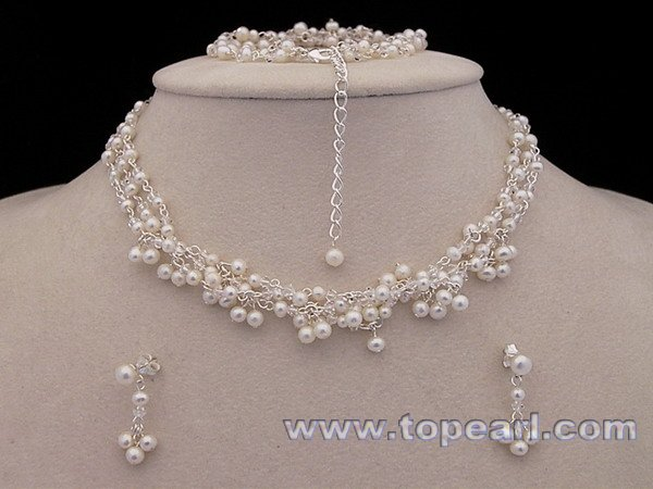 pearl rhinestone bridal jewelry crystal