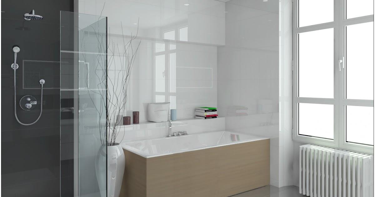 Akom design salle de bain 3d projet d 39 am nagement - Amenagement salle de bain 3d ...