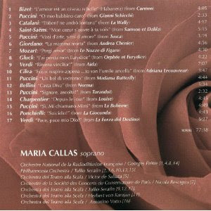 The Very Best of Maria Callas CD info