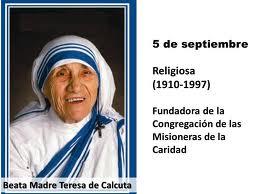 Mensaje de Madre Teresa de Calcuta