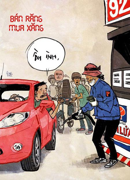 Giao thông Việt Nam qua tranh biếm họa