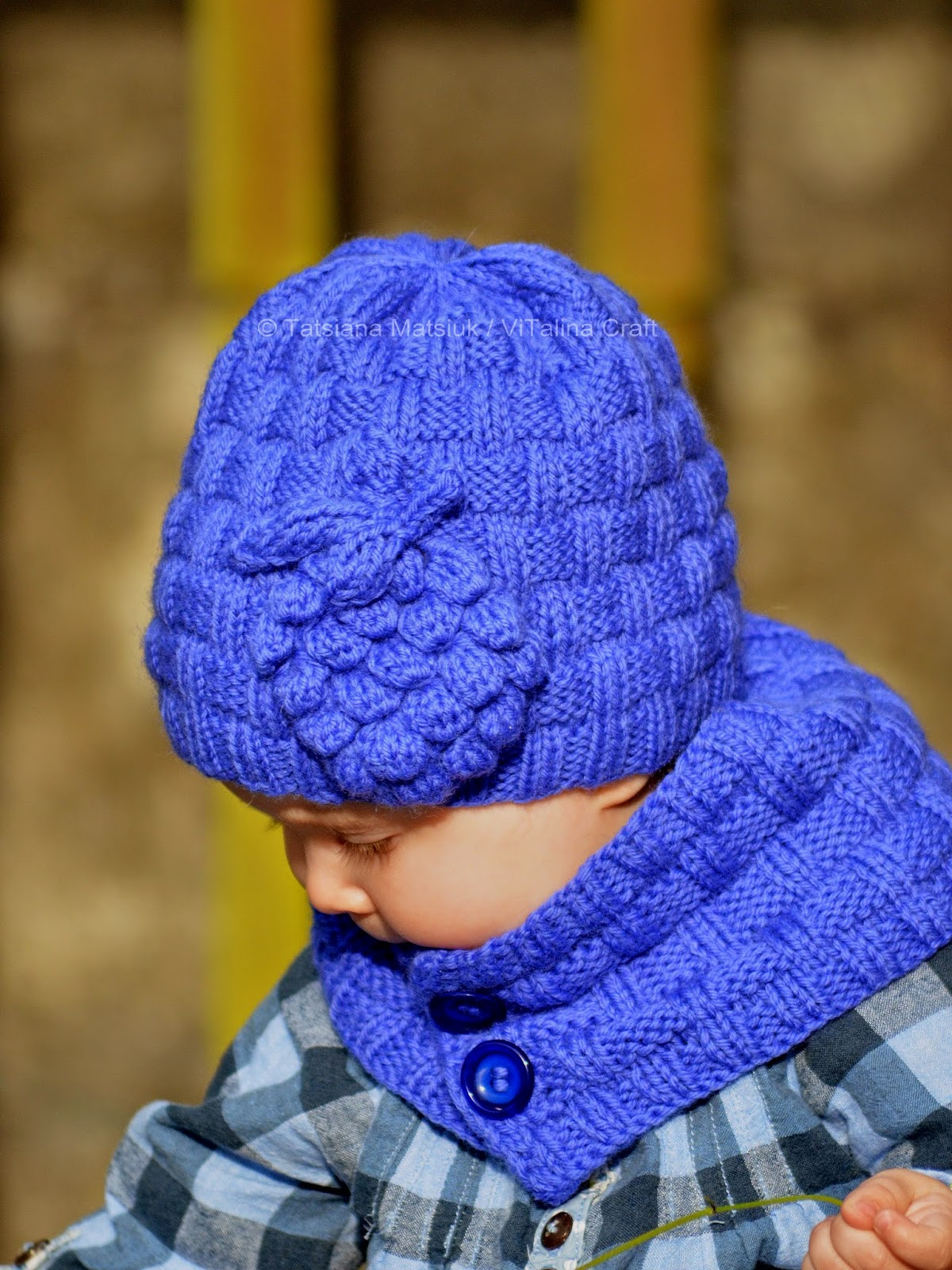 Grapevine Hat and Scarf Knitting Pattern ViTalina Craft
