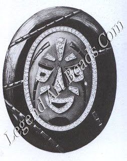 A brooch in the form of a mask based by Georges Fouquet on a design by A. Leveille (1925)