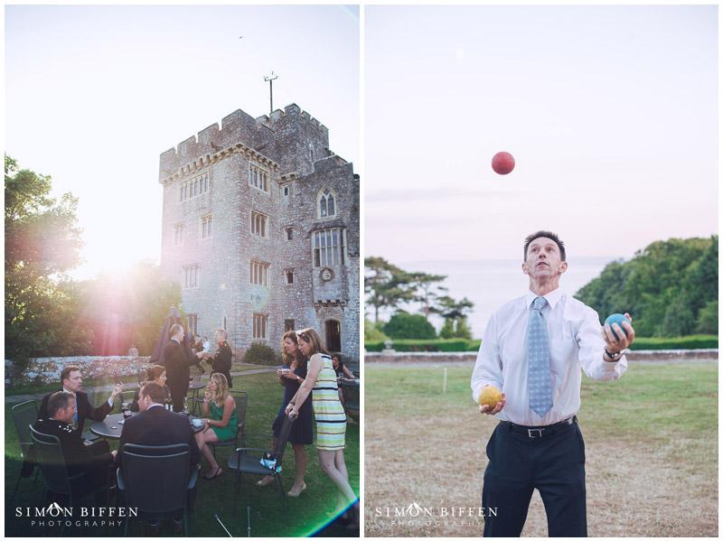 St Donat's Castle wedding reception