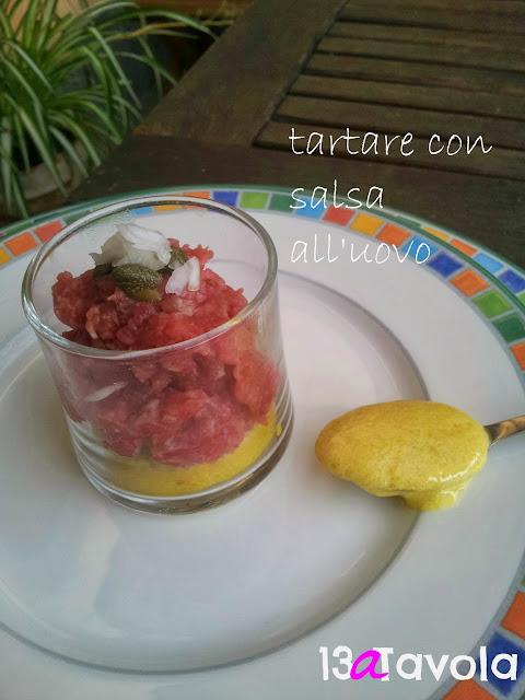 tartara con salsa all'uovo