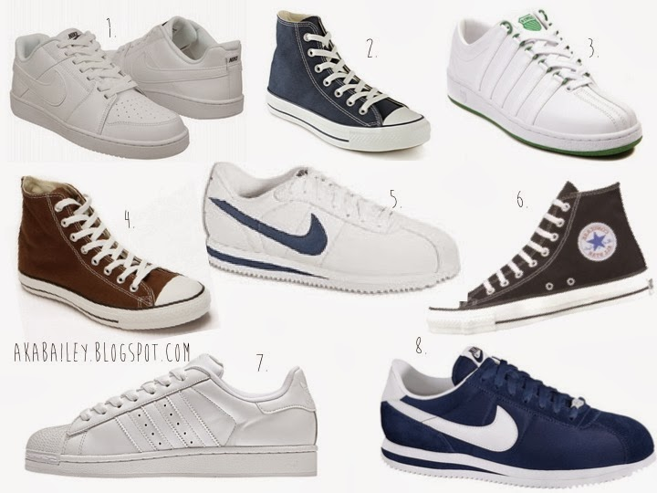 Sneakers, all white Nikes, Backboards, Cortez, Chuck Taylors, K-Swiss